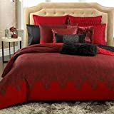 INC International Concepts MEDICI King Duvet Cover, Red/Black
