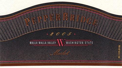 2005 Pepper Bridge Walla Walla Valley Estate Merlot (Library Wine, Limited Availability) 750 Ml