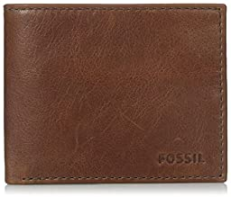 Fossil Men\'s Conner Bifold with Flip Id, Cognac, One Size