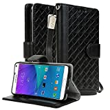 NOTE 5 Case, E LV (PREMIUM GENUINE LEATHER) Galaxy Note 5 FLIP Case *NEW* [Book Cover Case] - Wallet Cover With...