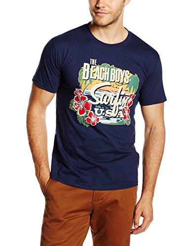 the-beach-boys-surfin-usa-tropical-short-sleeve-per-bambini-e-ragazzi-blu-blue-navy-l