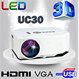 Portable Mini Projector LCD LED Portable HD Home Theater (600 Lumens, 320 — 240, VGA HDMI AV USB SD Manual Focus... - B01ESEGT94