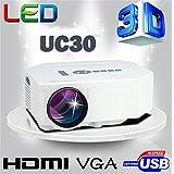 Portable Mini Projector LCD LED Portable HD Home Theater (600 Lumens, 320 — 240, VGA HDMI AV USB SD Manual Focus... - B01ESEGT94