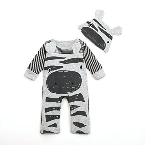 1Set Newborn Infant Baby Boys Girls Romper+Hat Jumpsuit Bodysuit Clothes Outfit1pc Baby Girls Christmas Party Red Paillette Tutu Dresses Xmas Gift (3-4Y, Red) (70, Gray)