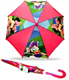 Disney Minnie Mouse Bowtique Pink Girls School Rain Umbrella Brolly Gift Official New