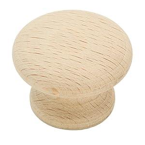 """Amerock 933  1-1/4"""" Wood Mushroom Knob"""