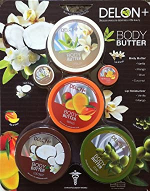 Delon Body Butter Variety Set with Lip Moisturizer