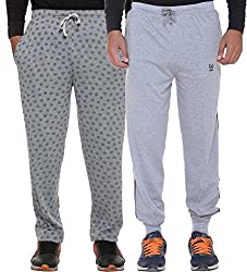 Vimal Multicolor Cotton Trackpants For Men (Pack Of 2)
