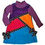 Bonnie Jean Girls Ribbon Color Block Jumper Set