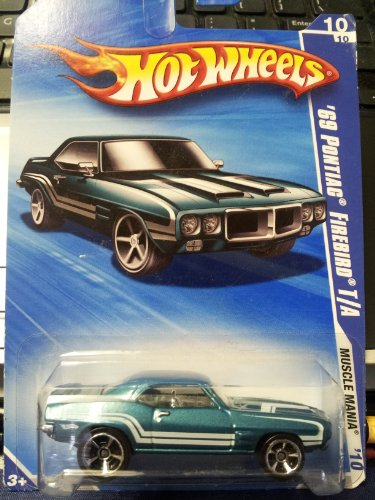 Hot Wheels 2010-088/240 Muscle Mania 10/10 '69 Pontiac Firebird T/A 1:64 Scale