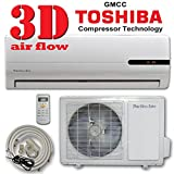 DuctlessAire 12000 BTU Ductless Mini Split Air Conditioner Heat Pump with 23ft Kit Complete Package