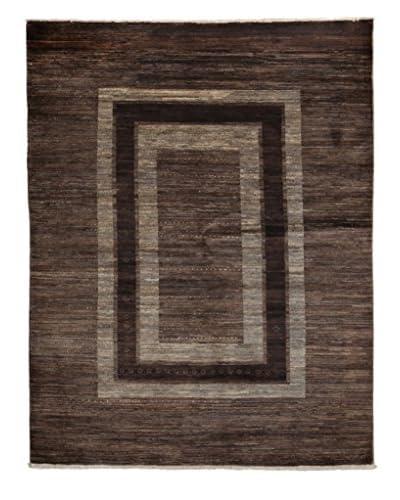 Darya Rugs Modern Oriental Rug, Brown, 4′ 10″ x 6′ 5″