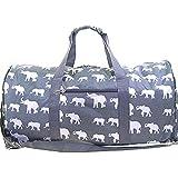 Gray Elephant Print Duffle Bag Travel Luggage Carryon Dance Cheer Bag