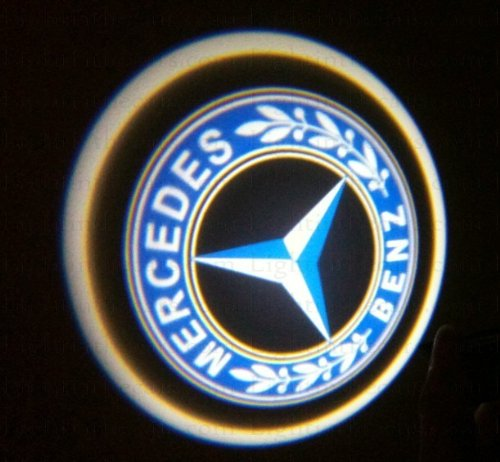 Mercedes Benz Ghost Door Logo Projector Shadow Puddle Laser Led Lights 7W (Qty 2)