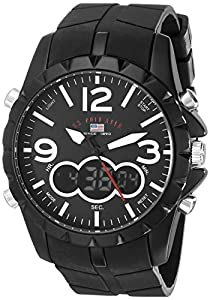 U.S. Polo Assn. Sport Men's US9235 Watch with Black Silicone Band