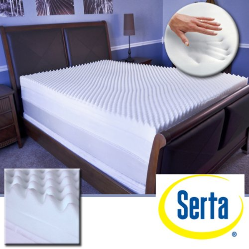 click to get lowprice serta restoration 4inch memory foam mattress topper u2013 king - Serta Mattress Topper