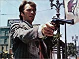 Canvas print 70 x 50 cm: Clint Eastwood in Dirty Harry by Everett Collection - ready-to-hang wall picture, stretched on canvas frame, printed image on pure canvas fabric, canvas print