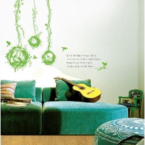Modern House Black Dandelion removable Vinyl Mural Art Wall Sticker Decal