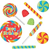 Creative Converting Sugar Buzz Assorted Candy Shape Wall Decoration
