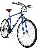 """Vilano C1 Comfort Road Bike Shimano 21 Speeds 26"""" Wheels, Blue"""