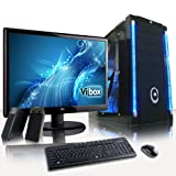 VIBOX Annihilator Package 10 - High Performance, Gaming PC, Multimedia, Desktop PC, USB3.0 Computer, Full Package with 23