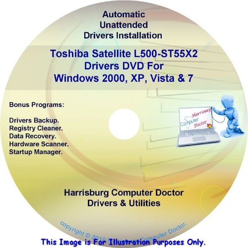 Toshiba Satellite L500-St55X2 Drivers Dvd Disc For Windows Xp, Vista, 7 & 8