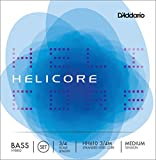 D\'Addario Bowed Jeu de cordes pour contrebasse hybride D\'Addario Helicore, manche 3/4, tension Medium