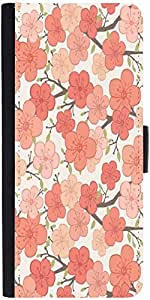 Snoogg Pink Flower Pattern designer Protective Phone Flip Case Cover For Lg Nexus 5X