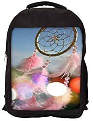 Snoogg Dream Catcher Real Backpack Rucksack School Travel Unisex Casual Canvas Bag Bookbag Satchel