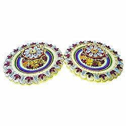 KALA NIRMAN - A Pair of LED Diya with Plate