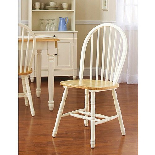 Oak dining set 6 piece traditional white and natural for Kitchen dining sets on sale
