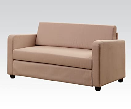 Acme 57087 Modern Chocolate Fabric Sleeper Sofa
