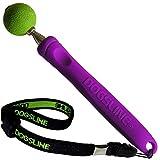 Dogsline Target Stick mit elastischer Handschlaufe für Erziehung Ausbildung und Training , Edelstahl 17-73cm violett , DL12TSA