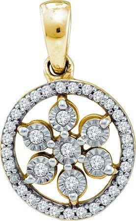 0.12CTW DIAMOND SILVER FANOOK PENDANT