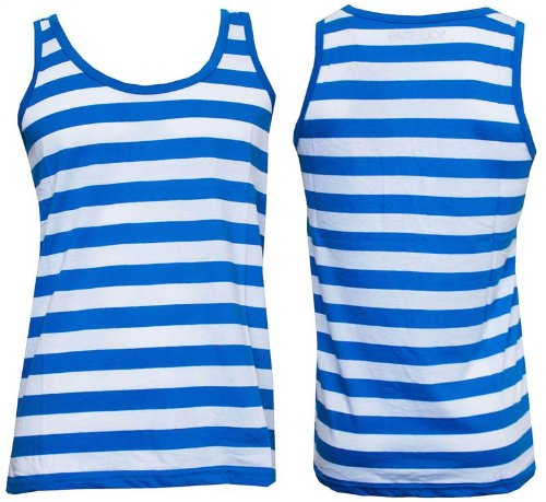 Mens Soul Star Cotton Striped Vest Sleeveless Top Sports Gym Fitness Training