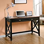 Homestar Writing Desk with 1 Drawer, Natural Wood Veneer