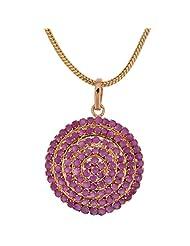Ratnabhushan Jewels Gold Plated CZ Pendant Earring Set For Women - B00OIPX424