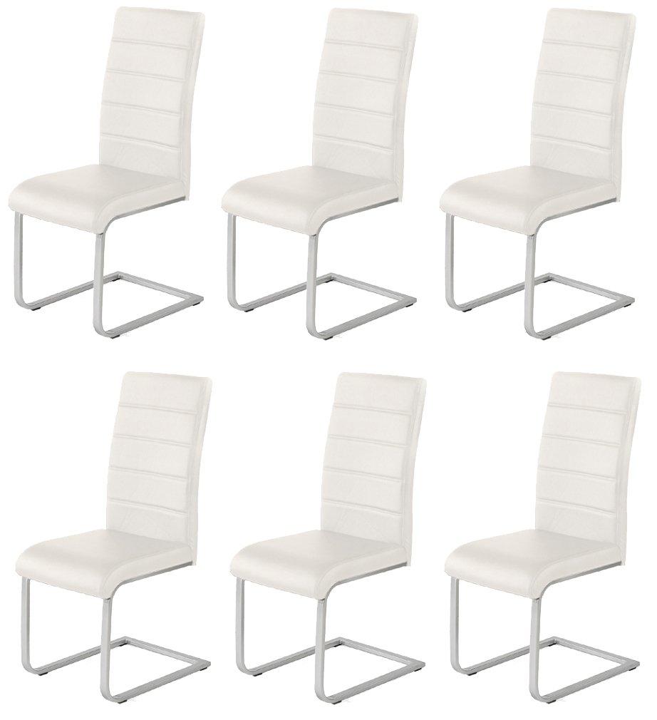 6 x Design Stuhl Freischwinger Piet 32