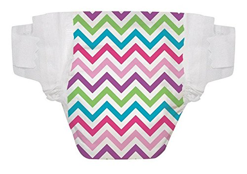 "The Honest Company ""Size Newborn"" Diapers (Chevron) up to 10 Lbs - One Package of 40 Honest Diapers"