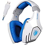 GW SADES AW80 Wired USB Stereo Over Ear Gaming Headset Headphones With Mic, Bass Vibration, Volume Control For...