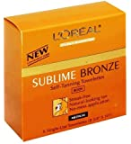 Loreal Self-Tanning Towelettes, for Body, Medium Natural Tan 6 ct (Pack of 2)