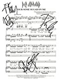 "Def Leppard - ""Pour Some Sugar On Me"" Autographed Sheet Music by 4"