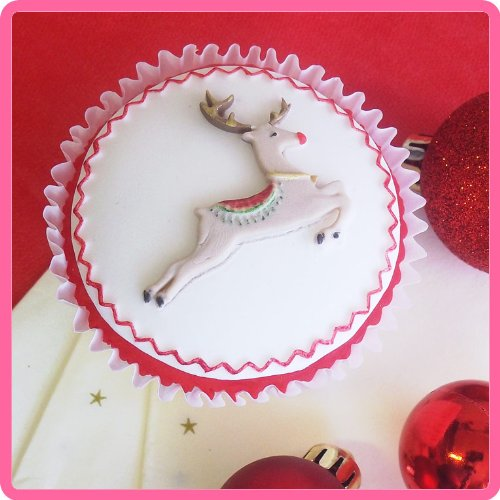 Prancing Reindeer Silicone Mould for Cake Decorating ...