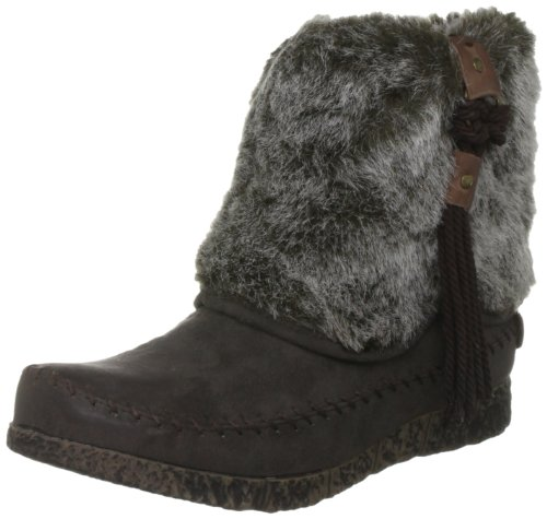 Wrangler Women's Riva Mid Dark Brown Pull On Boots WL112602 4 UK, 37 EU