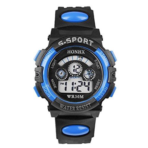 Malloom® Digitale Impermeabile Di Sport Orologio Da Polso per Ragazzo (Blu)