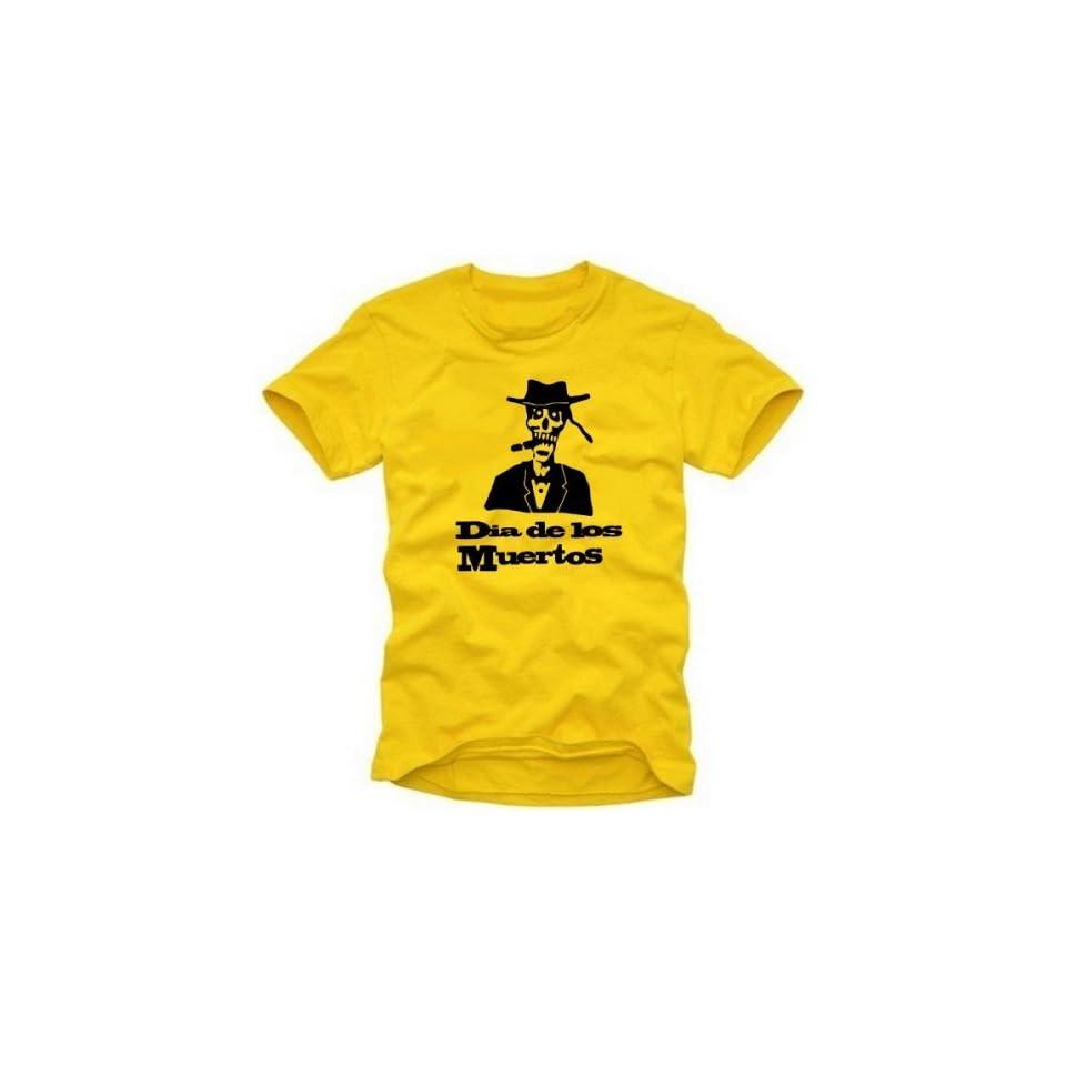 Dia de los Muertos T Shirt Mexiko gelb mexico city Tequilla