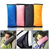 E-PRANCE Cotton Velvet Car Safety Seat Belt Shoulder Pad Pillow for Children,Grey
