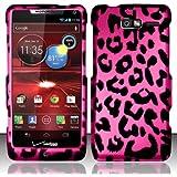 [Extra-Terrestrial]For Motorola Droid RAZR M 4G LTE XT907 (Verizon) Rubberized Design Cover - Pink Leopard