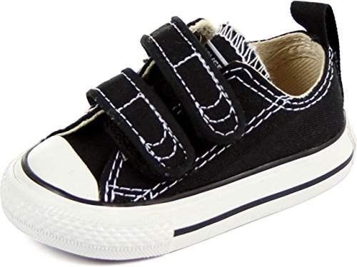 Converse Kids Unisex Chuck Taylor 2V Ox (Infant/Toddler) Black Sneaker 3 M US Infant