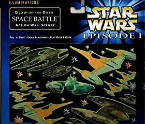 Illuminations Star Wars Episode 1 Illuminations Glow-in-the-dark Space Battle Action Wall Scene at Sears.com